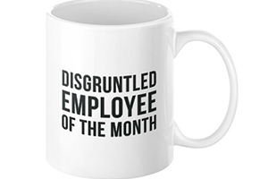 Lucky Devil Disgruntled Employee Of THe Month cup