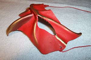 red hawk leather mask